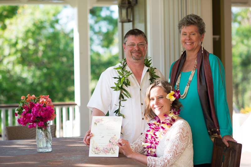 Carol Hart, Kauai wedding officiant